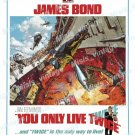 You Only Live Twice 1967 Vintage Movie Poster Reprint 45