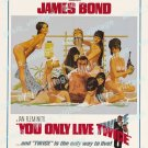 You Only Live Twice 1967 Vintage Movie Poster Reprint 43