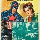 Captain America 1944 Vintage Movie Poster Reprint 7