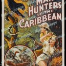 Man Hunters Of The Caribbean 1938 Vintage Movie Poster Reprint