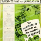 Abbott And Costello Meet Frankenstein 1948 Vintage Movie Poster Reprint 13