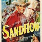 Sandflow 1937 Vintage Movie Poster Reprint 5