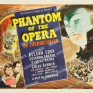 Phantom Of The Opera 1943 Vintage Movie Poster Reprint 9