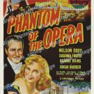 Phantom Of The Opera 1943 Vintage Movie Poster Reprint 8