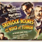 Sherlock Holmes And The Voice Of Terror 1942 Vintage Movie Poster Reprint 6