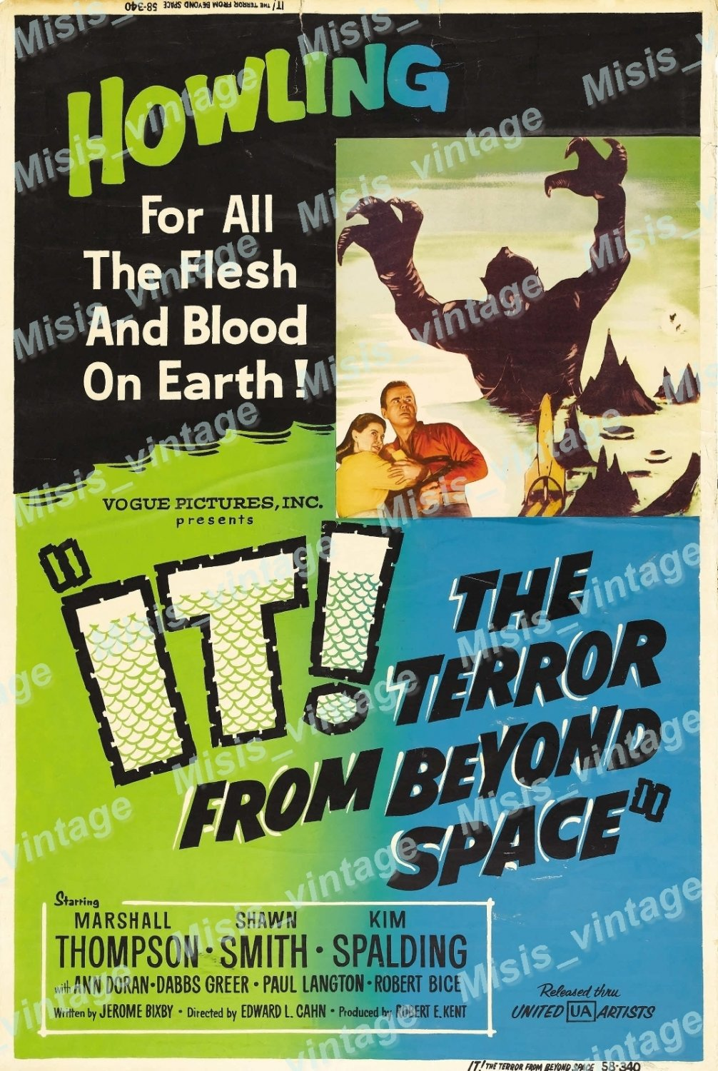 It The Terror From Beyond Space 1958 Vintage Movie Poster Reprint 2