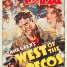 West Of The Pecos 1935 Vintage Movie Poster Reprint 2