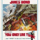 You Only Live Twice 1967 Vintage Movie Poster Reprint 40