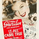 It All Came True 1940 Vintage Movie Poster Reprint