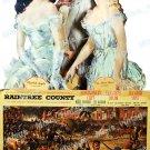 Raintree County 1957 Vintage Movie Poster Reprint