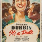 It S A Date 1940 Vintage Movie Poster Reprint