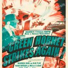 The Green Hornet Strikes Again 1941 Vintage Movie Poster Reprint 4