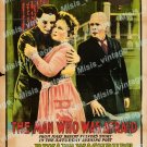 The Man Who Was Afraid 1917 Vintage Movie Poster Reprint