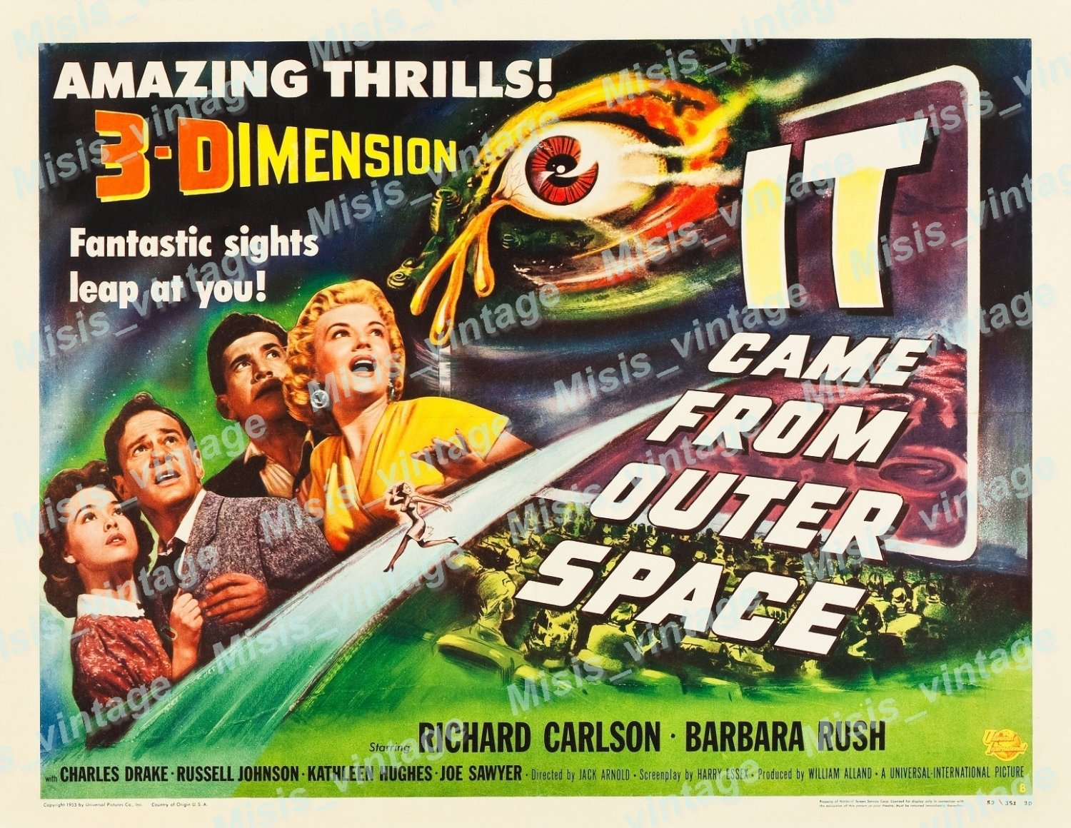 It Came From Outer Space 1953 Vintage Movie Poster Reprint 14