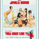 You Only Live Twice 1967 Vintage Movie Poster Reprint 34