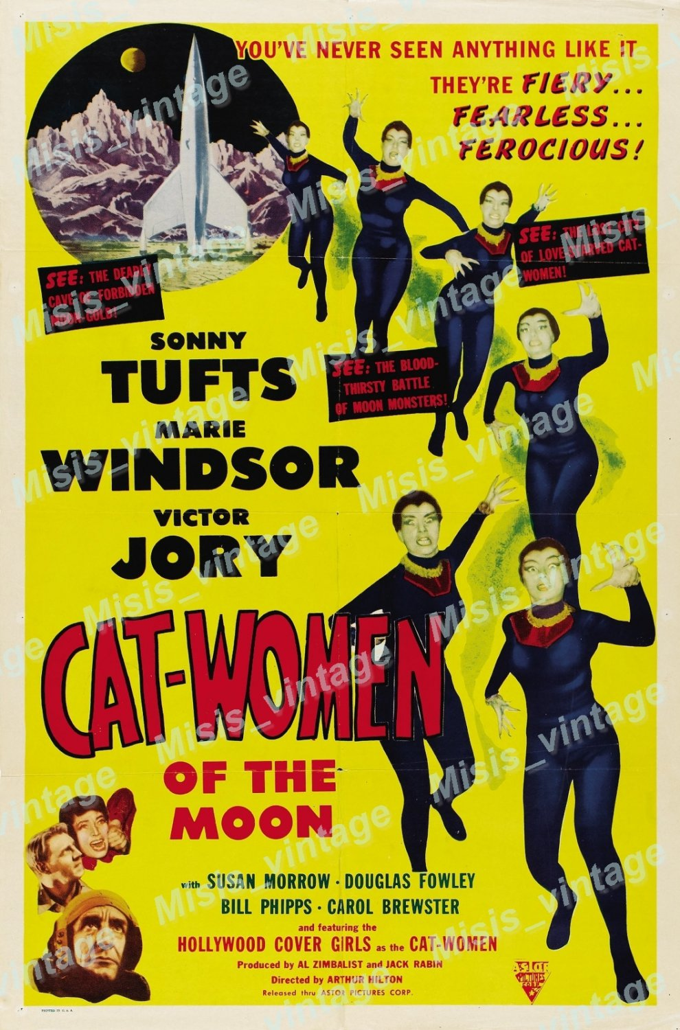 Cat Women Of The Moon 1954 Vintage Movie Poster Reprint