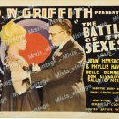 Battle Of The Sexes 1928 Vintage Movie Poster Reprint