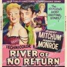River Of No Return 1954 Vintage Movie Poster Reprint 3