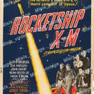 Rocketship X M 1950 Vintage Movie Poster Reprint 3