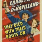 They Died With Their Boots On 1941 Vintage Movie Poster Reprint 8