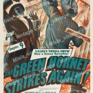 The Green Hornet Strikes Again 1941 Vintage Movie Poster Reprint 3