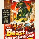 The Beast From 20 000 Fathoms 1953 Vintage Movie Poster Reprint 20