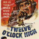 Twelve O Clock High 1949 Vintage Movie Poster Reprint 2