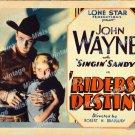 Riders Of Destiny 1933 Vintage Movie Poster Reprint 2