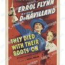 They Died With Their Boots On 1945 Vintage Movie Poster Reprint 7