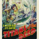 Titans Of The Deep 1938 Vintage Movie Poster Reprint 2