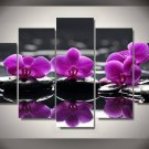 Large Framed/Unframed Pink Orchid Flowers Canvas Wall Art Home Decor Five Piece