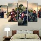 Large Framed Avengers Canvas Print Five Piece Wall Art Decor