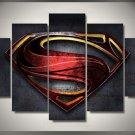 Large Framed Superman Canvas Five Piece Print wall art decor