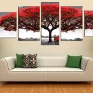Large Framed Red Tree Canvas Print Wall Art Home Decoration