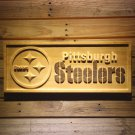 Pittsburgh Steelers Wood Sign Pine 3D Engraved Bar Home Design Football