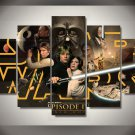 Large Framed Star Wars A new hope Canvas Home Decor Wall Art Five Piece