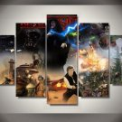 Large Framed Star Wars Return of the Jedi Canvas Home Decor Wall Art Five Piece