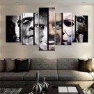 Large Framed Halloween Faces of Terror Horror Canvas Print Wall Art Home Decor