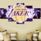 Large Framed Los Angeles Lakers Canvas Print Wall Home Decor Five Piece Wall Art
