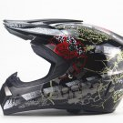 Motocross Helmet Skulls Dirt Bike ATV with Gloves Goggles Face Mask