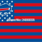 Large Buffallo Bills Football Flag Banner 3x5 FT with Metal Grommets