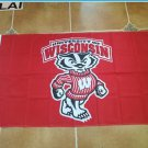 Large Wisconsin Badgers College Flag Banner 3x5 FT with Metal Grommets