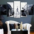 Large Framed Fast and Furious Racing 5 Piece Canvas Print Wall Art Home Decor