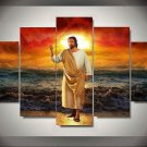Jesus Christ Ocean Christian Canvas Print Wall Home Decor Five Piece