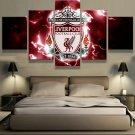 Liverpool Never Walk Alone Framed Canvas Five Piece Wall Art 5 Panel Home Decor