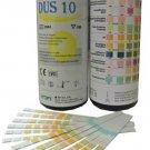 100 x 10 Parameter Urinalysis Urine Strip Tests - UTI Ketone etc Testing Strips   HT