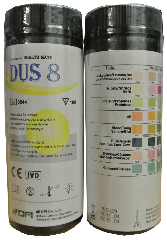 Test Strips Ketone,Glucose,pH,Blood,Urine Infection/UTI  100 x 8 PARAMETER DOCTOR