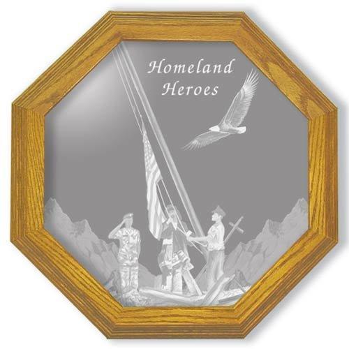 """13"""" Homeland Heroes Patriotic Etched Mirror"""