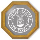 "20"" United States Air Force Emblem Etched Wall Mirror"