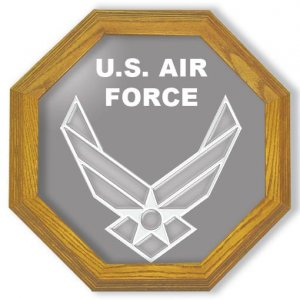 """20"""" United States Air Force Emblem (contemporary) Etched Wall Mirror"""